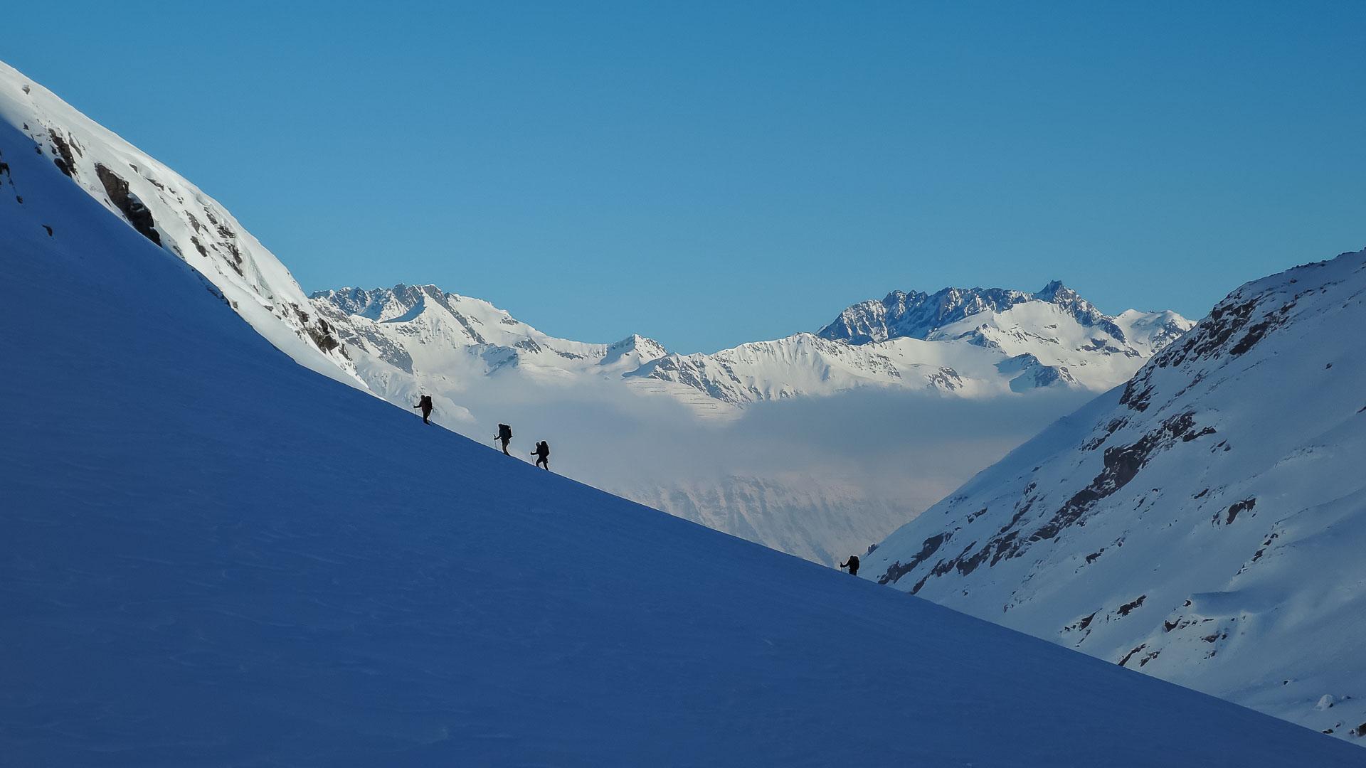 Skialpinizmus na Silvrette